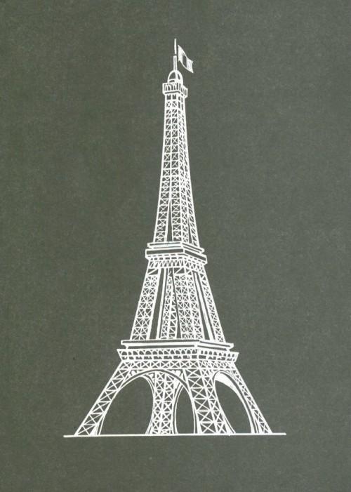 Torre eiffel 3 disegni for Costruire una torre di osservazione